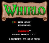 Whirlo SNES Main menu