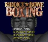 Riddick Bowe Boxing SNES Main Menu