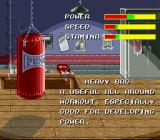 Riddick Bowe Boxing SNES Select an item to boost your skills.