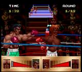 Riddick Bowe Boxing SNES Full blow to the head