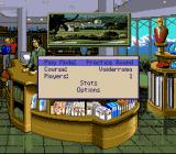 PGA European Tour SNES The pro shop - main menu