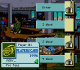 PGA European Tour SNES Creating a golfer.