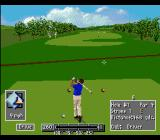 PGA European Tour SNES Hitting across a walkway.