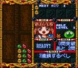Super Nazo Puyo: Rulue no Roux SNES Clear all Puyo beans.