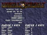 Mortal Kombat 3 DOS Main Menu