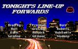 NHL Hockey   DOS Tonight's line-up