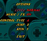 Whizz SNES Options menu