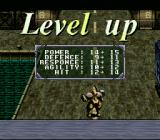 Solid Runner SNES Fight enough enemies and level up your character.