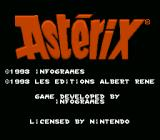 Astérix SNES Copyright notice