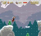 Astérix SNES Snowstorm and winter landscape