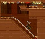 Astérix SNES Egypt, cart ride inside a pyramid