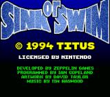 Sink or Swim SNES Copyright notice