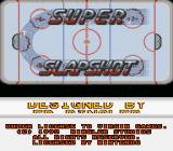 Super Slap Shot SNES Title screen