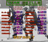 Super Slap Shot SNES Alter team skills.