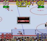 Super Slap Shot SNES Penalty: 2 minutes on the bench