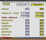 Super Slap Shot SNES 15 pages of statistics!