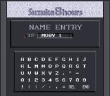 Suzuka 8 Hours SNES Name entry
