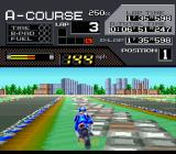 Suzuka 8 Hours SNES Better drive in the middle of the road.