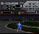 Suzuka 8 Hours SNES The game features dynamic day/night changes.