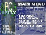 PC Rally DOS Main menu
