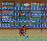 Bebe's Kids SNES Break the china before the shop keeper can catch it.