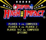 Super High Impact SNES Main menu