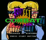 Street Combat SNES Title screen