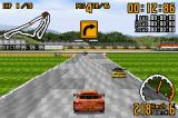 Top Gear GT Championship Game Boy Advance Coloured arrows warn about upcoming turns.