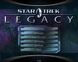 Star Trek: Legacy Windows Main menu