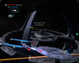 Star Trek: Legacy Windows Sovereign class ships protecting Deep Space 9.