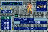 Fire Pro Wrestling Game Boy Advance Fighter selection screen