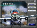 Microsoft Flight Simulator for Windows 95 Windows The flights screen lets you load a pre-saved flight situation.