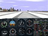 Microsoft Flight Simulator for Windows 95 Windows The Cessna at Meigs Field - a familiar sight!