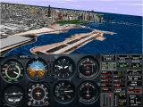 Microsoft Flight Simulator for Windows 95 Windows Meigs and Chicago from above - scenery complexity set to maximum