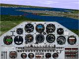 Microsoft Flight Simulator for Windows 95 Windows Flying the Extra 300S above San Fransisco.