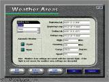 Microsoft Flight Simulator for Windows 95 Windows The weather settings screen.