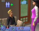 The Sims: Life Stories Windows Talking to a cute guy