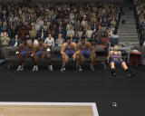 NBA Live 2004 Windows Players waiting for their turn