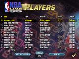 NBA Live 95 DOS Players list