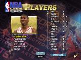 NBA Live 95 DOS You can view each players information