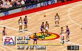 NBA Live 95 DOS 1st Quarter starts in the middle