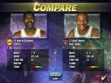 NBA Live 95 DOS Comparing two players