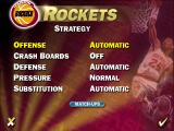 NBA Live 95 DOS Houston Rockets strategy menu