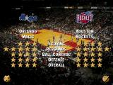 NBA Live 96 DOS Two teams stats displayed with stars