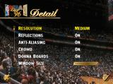 NBA Live 96 DOS Graphics detail menu.Quite simple back in 1996