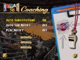 NBA Live 96 DOS Tean coaching menu