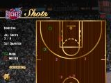NBA Live 96 DOS You can view where you made or missed your shots.