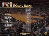 NBA Live 96 DOS User stats screen