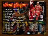 NBA Live 97 DOS Player information screen