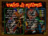 NBA Live 97 DOS Rules & Options screen